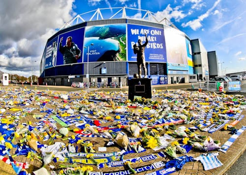 Cardiff City Stadium Tour - Fred Keenor Statue