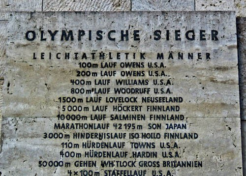Olympiastadion - Berlin Olympic Stadium Tour - 1936 Berlin Olympic Games Commemorative Plaque - Jesse Owens