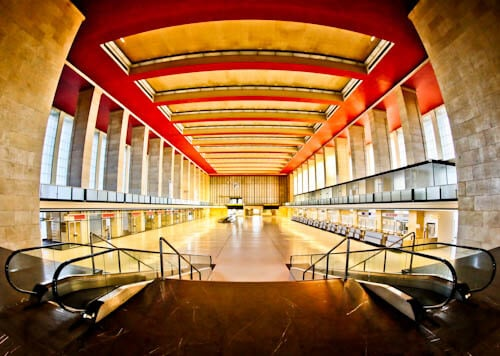 Hitler's Abandoned Tempelhof Airport - Nazi Architecture - Berlin - Main Hall