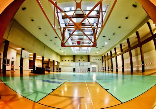 Hitler's Abandoned Tempelhof Airport - Nazi Architecture - Berlin - Basketball Court