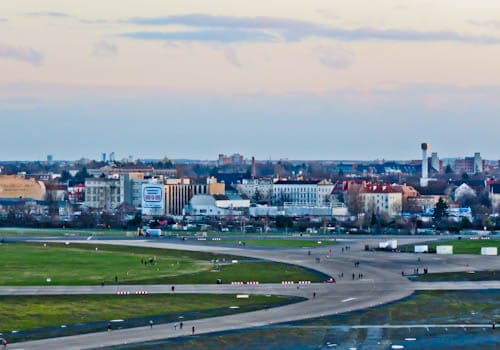 Hitler's Abandoned Tempelhof Airport - Nazi Architecture - Berlin - Runway
