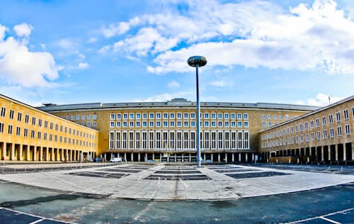 Hitler's Abandoned Tempelhof Airport - Nazi Architecture - Berlin - Main Airport Entrance