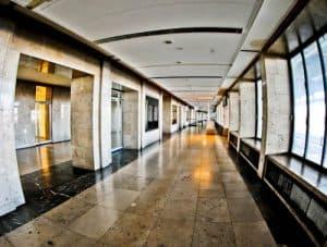 Hitler's Abandoned Tempelhof Airport - Nazi Architecture - Berlin - Gate Interior