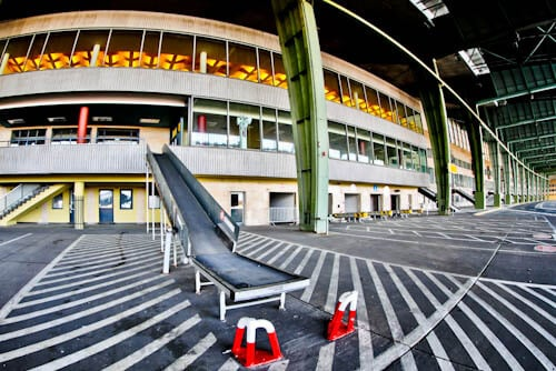 Hitler's Abandoned Tempelhof Airport - Nazi Architecture - Berlin - Gate Exterior