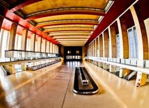 Hitler's Abandoned Tempelhof Airport - Nazi Architecture - Berlin - Departure Hall