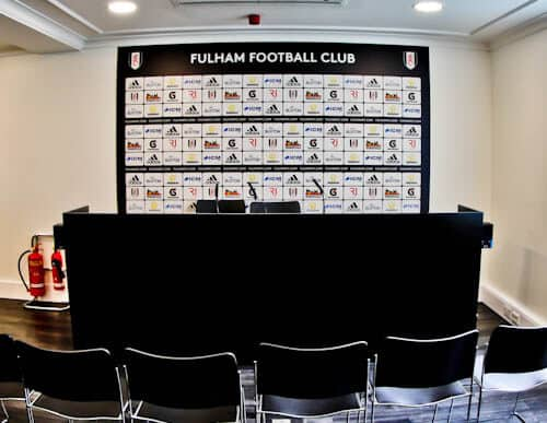 Craven Cottage - Fulham FC Stadium Tour - Press Room