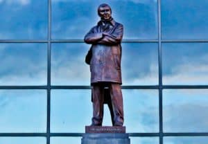 Old Trafford Stadium Tour - Theatre of Dreams - Alex Ferguson Statue