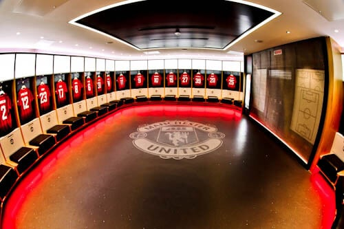 Old Trafford Stadium Tour - Theatre of Dreams - Home Team Dressing Rooms
