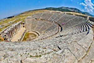 Pamukkale Turkey - Hierapolis Ancient Theater