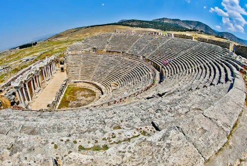 Pamukkale Turkey - Hierapolis Ancient Theater