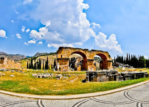 Pamukkale Turkey - Arch of Domitian