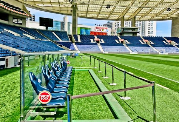 FC Porto Stadium Tour - Estadio Do Dragao - Pitchside and Dugout