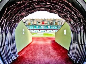 Konyaspor Stadium Tour - Konya Turkey - Players Tunnel