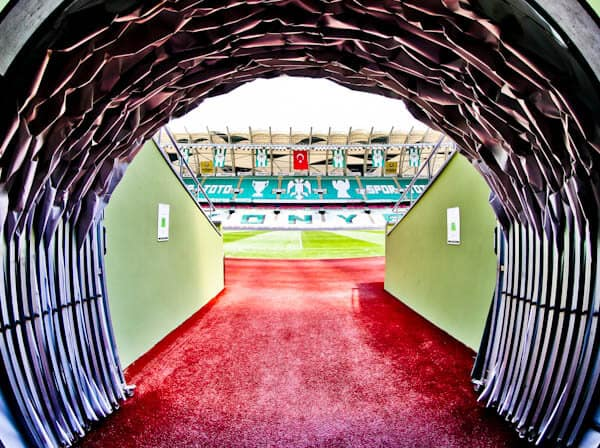 Konyaspor Stadium Tour - Konya Turkey - Players Tunnel