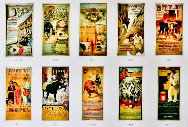 Pamplona Bull Stadium Tour - Plaza de Toros - Historic Bullrun Flyers and Posters