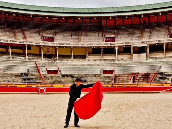 Pamplona Bull Stadium Tour - Plaza de Toros - Matador Props