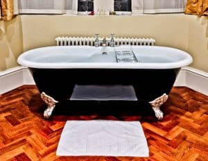 Rushton Hall Hotel and Spa - Travel Blogger Review - Guest Room Bathroom - Lord Cullen