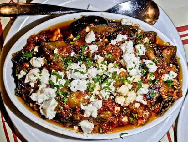 Manolis Tastes - Greek Restaurant Bar Cafe - Lipsi Island - Aubergine Gratin with Feta Cheese