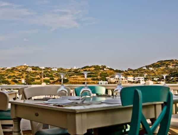 Manolis Tastes - Greek Restaurant Bar Cafe - Lipsi Island - Al Fresco Dining