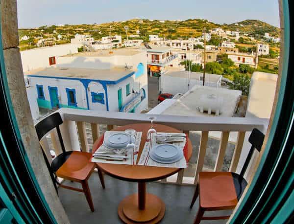 Manolis Tastes - Greek Restaurant Bar Cafe - Lipsi Island - Private Balcony