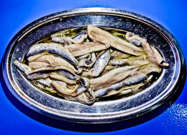 Greek Ouzeri Restaurant Experience + Photos - Marinated Anchovies