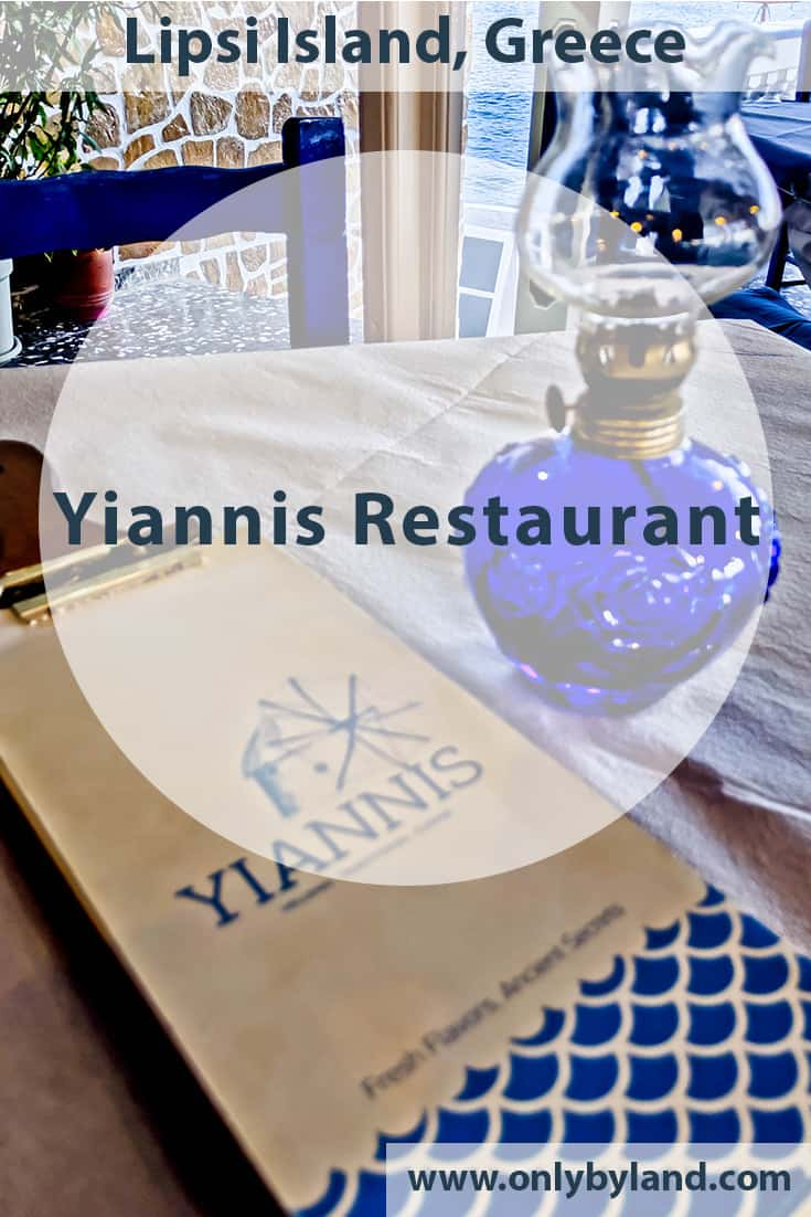Yiannis Restaurant – Greek Food – Lipsi Island Greece