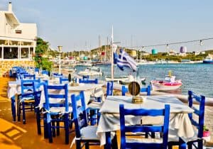Yiannis Restaurant - Greek Food - Lipsi Island Greece - Al Fresco Dining