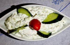 Yiannis Restaurant - Greek Food - Lipsi Island Greece - Fresh Greek Tzatziki