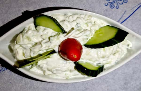 Yiannis Restaurant - Greek Food - Lipsi Island Greece - Fresh Greek Tzatziki