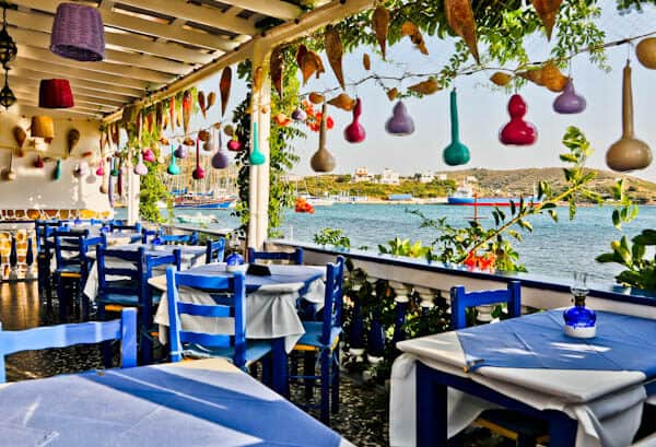Yiannis Restaurant - Greek Food - Lipsi Island Greece - Location