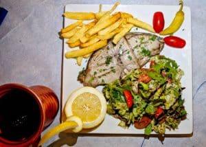 Yiannis Restaurant - Greek Food - Lipsi Island Greece - Tuna Steak