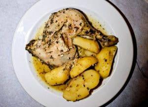Yiannis Restaurant - Greek Food - Lipsi Island Greece - Chicken Lemon
