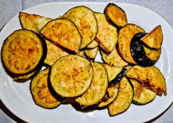 Yiannis Restaurant - Greek Food - Lipsi Island Greece - Fried Aubergine