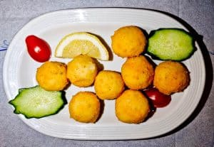 Yiannis Restaurant - Greek Food - Lipsi Island Greece - Cheese Balls