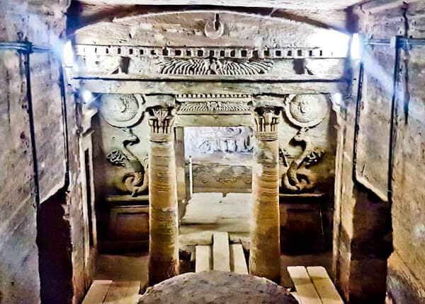 Things to do in Alexandria Egypt - Catacombs of Kom El Shoqafa