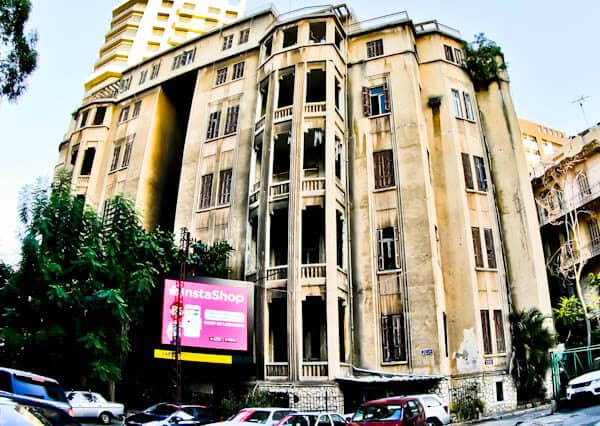 Things to do in Beirut Lebanon - Bullet Hole Riddled Buildings