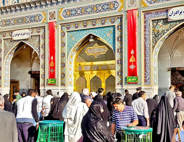 Visiting the Imam Reza Shrine - Mashhad, Iran - Jomhoori Islami Courtyard - Golden Porch