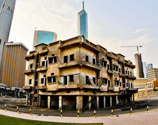 Things to do in Kuwait City Kuwait - Destroyed Buildings with bullet holes