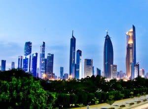 Things to do in Kuwait City Kuwait - Tall Buildings in Kuwait City Skyline