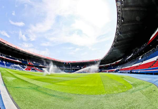 Parc des Princes Stadium Tour - Paris SG - Pitchside and Dugouts