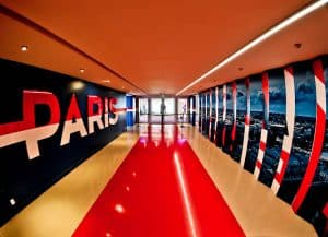 Parc des Princes Stadium Tour - Paris SG - Players Tunnel