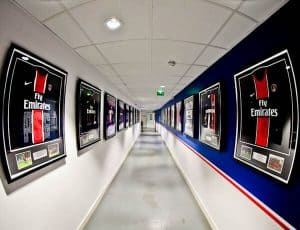 Parc des Princes Stadium Tour - Paris SG - Historic PSG Shirts