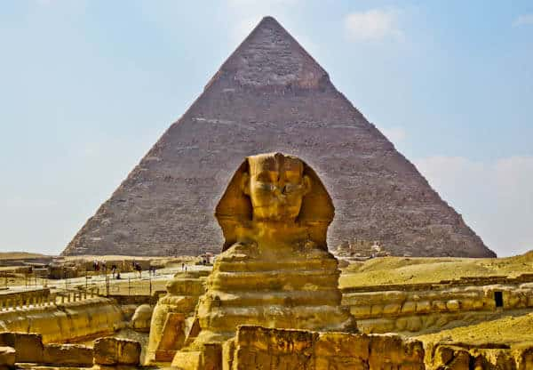 How to Photograph the Egyptian Pyramids of Giza - Sphinx Aligned in Front of the Pyramid