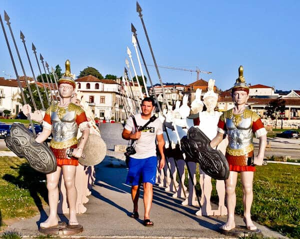 Things to do in Ponte de Lima Portugal - Statues of Roman Soldiers