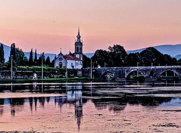 Things to do in Ponte de Lima Portugal - Medieval Bridge at Sunset