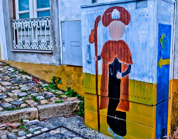 Things to do in Tomar Portugal - Camino Portuguese Inspired Street Art