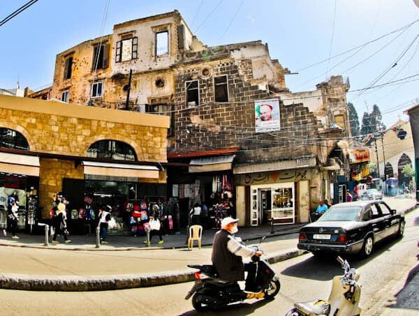 What to see in Tripoli Lebanon - Bullet Hole Filled Buildings