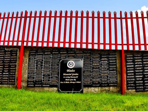 Sheffield United Stadium Tour - Bramall Lane - Blades Memorial Garden