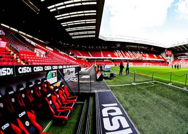 Sheffield United Stadium Tour - Bramall Lane - Pitchside and Dugout
