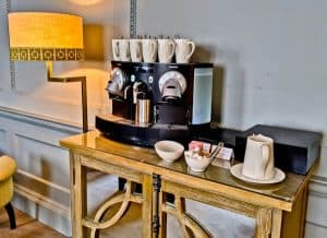Queensberry Hotel in Bath - Travel Blogger Review - Complimentary Tea and Coffee